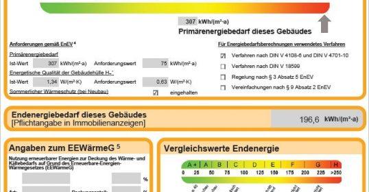 Energieausweis nach EnEV
